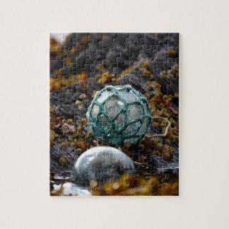 Fishing float in tide pool, Alaska Jigsaw Puzzle