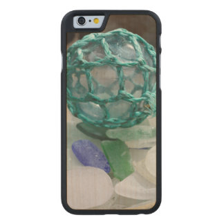 Fishing float on glass, Alaska Carved Maple iPhone 6 Case