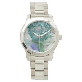 Fishing float on glass, Alaska Wristwatch