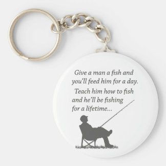 Fishing for a Lifetime Basic Round Button Key Ring