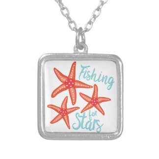 Fishing For Stars Silver Plated Necklace