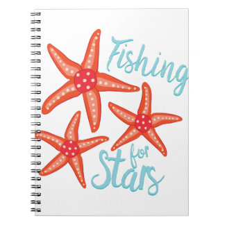 Fishing For Stars Spiral Notebook