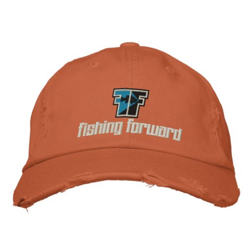 fishing forward embroidered hat