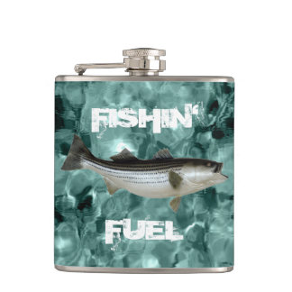 Fishing Fuel Striped Bass Icy Water Hip Flask