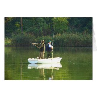 Fishing fun greeting card