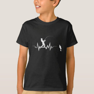 Fishing Heartbeat Cool Beat Great Gift For Fisher T-Shirt
