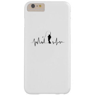 Fishing Heartbeat  Funny Gift  For Fisherman Barely There iPhone 6 Plus Case