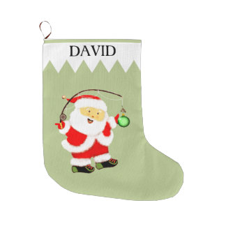 Fishing Holidays Large Christmas Stocking