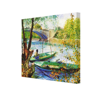 Fishing in Spring Vincent van Gogh Gallery Wrap Canvas