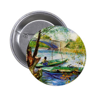 Fishing in Spring Vincent van Gogh Pin