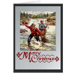 Fishing in the river card