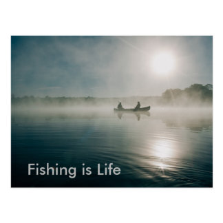 Fishing is Life postcard