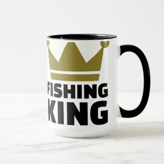 Fishing king crown mug