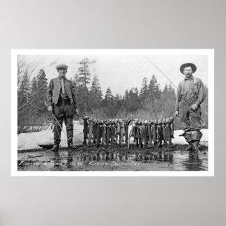 Fishing Klamath Falls, Oregon Vintage Poster