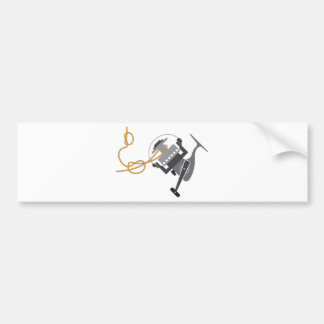 Fishing knot to connect line to the spool vector bumper sticker