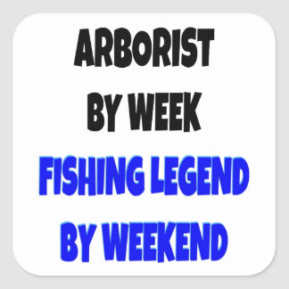 Fishing Legend Arborist Square Sticker