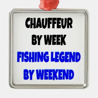 Fishing Legend Chauffeur Metal Ornament