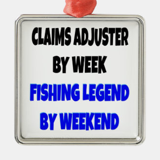 Fishing Legend Claims Adjuster Metal Ornament