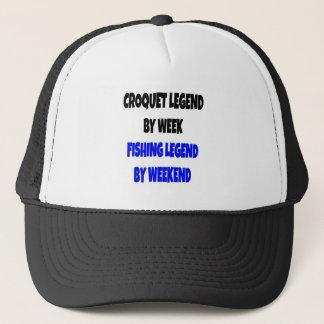 Fishing Legend Croquet Legend Trucker Hat