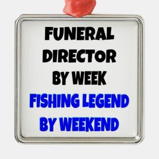 Fishing Legend Funeral Director Metal Ornament
