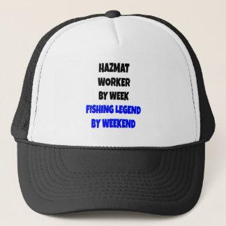 Fishing Legend Hazmat Worker Trucker Hat