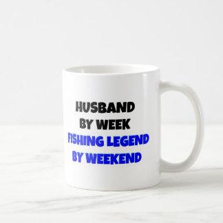 Fishing Legend Husband Basic White Mug