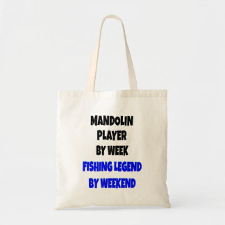 Fishing Legend Mandolin Player Tote Bag