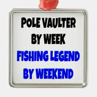 Fishing Legend Pole Vaulter Metal Ornament