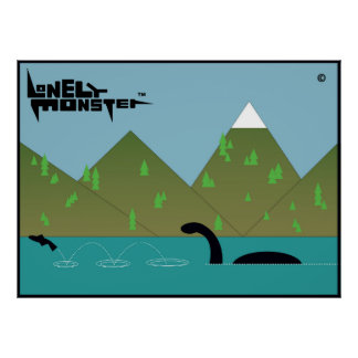 Fishing Lonely Monster Poster