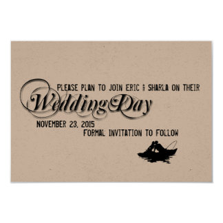 Fishing Lovers Great Catch Save the Date 9 Cm X 13 Cm Invitation Card