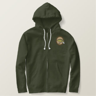 Fishing Lure Embroidered Thermal Hoodie