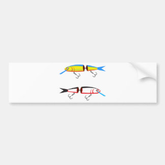 Fishing lure sections plastic tail vector bumper sticker