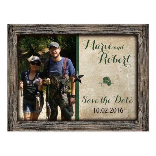 Fishing Lure Wedding Photo Save the Date Postcard