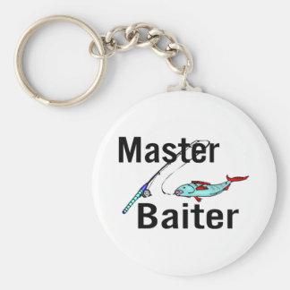 Fishing Master Baiter Basic Round Button Key Ring