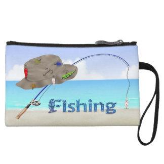 Fishing Mini Clutch Wristlet