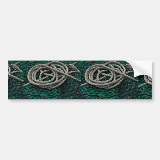Fishing nets and rope bumper stickers