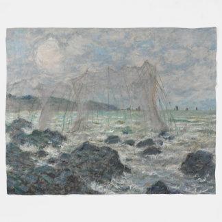 Fishing Nets at Pourville Claude Monet Fleece Blanket
