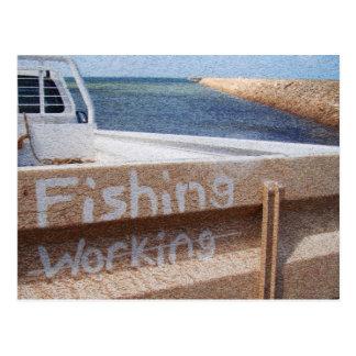 Fishing NOT Working beach sky jetty pier ute Postcard