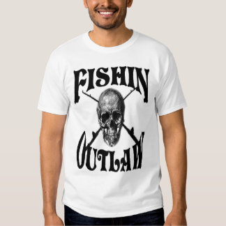fishing outlaw with skull vand cross poles shirts