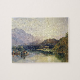 Fishing Party at Loch Achray, with a View of Ben V Jigsaw Puzzle