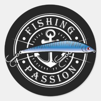 Fishing Passion Round Sticker