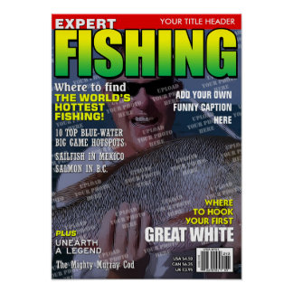 Fishing Personalized Magazine Cover Poster