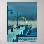 Fishing Pier Burlington Vermont Poster