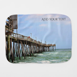 Fishing Pier by Shirley Taylor Burp Cloth