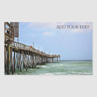 Fishing Pier by Shirley Taylor Rectangular Sticker