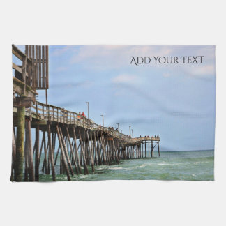 Fishing Pier by Shirley Taylor Tea Towel