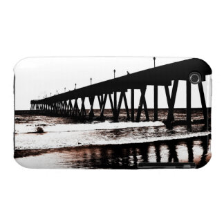Fishing Pier in (mostly) Black and White iPhone 3 Case-Mate Cases