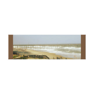 Fishing Pier off the Atlantic Canvas Print