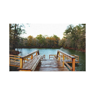 Fishing Pier Poster Canvas Print