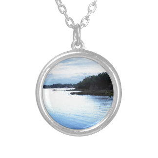 Fishing Pine Island causeway Silver Plated Necklace